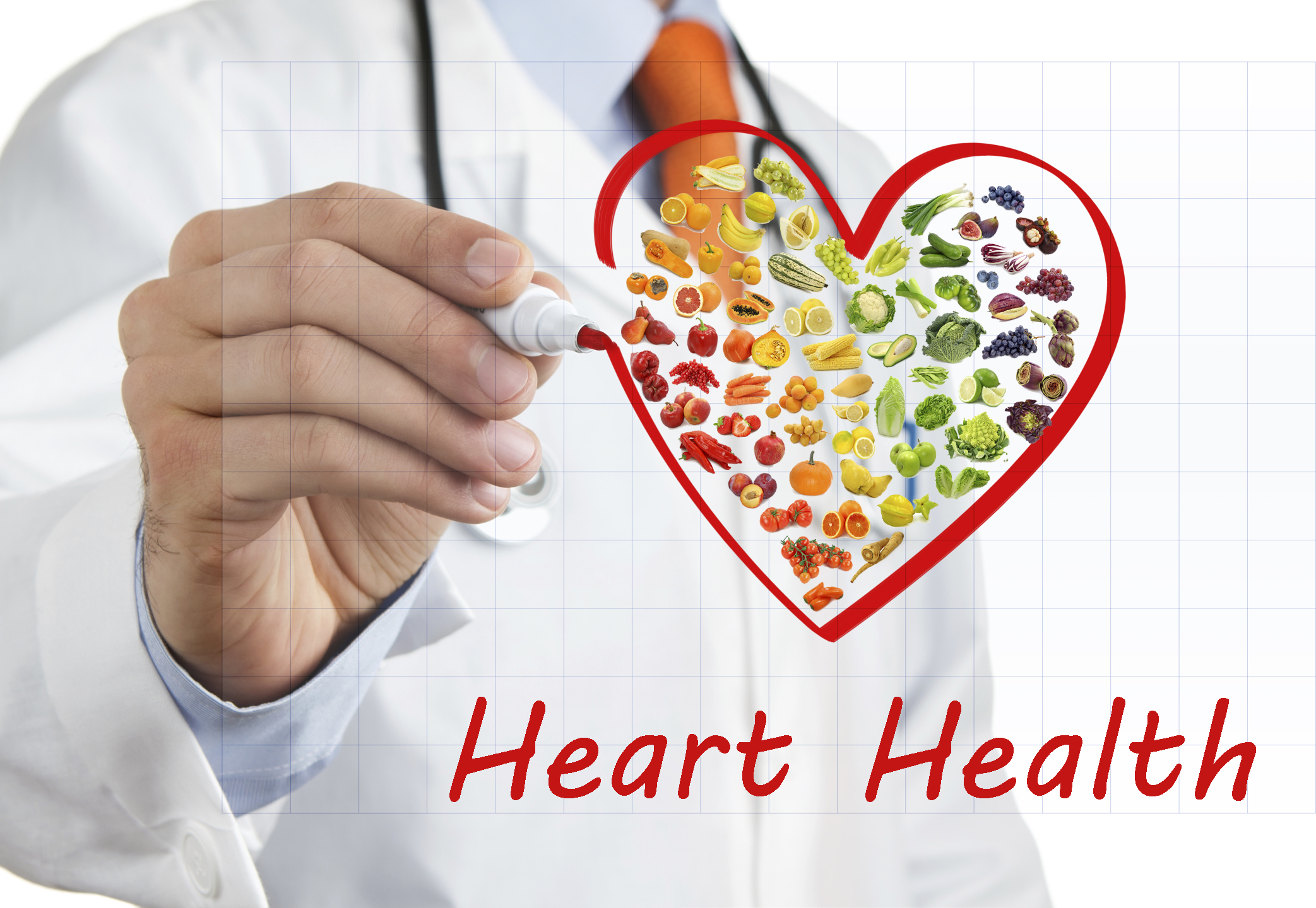 Doctor drawing heart symbol
